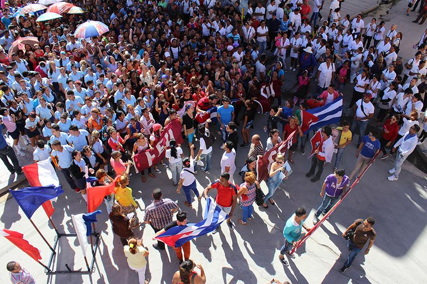 ¡Hasta siempre, Comandante! (Tributo manzanillero a Fidel - II) // Foto Marlene Herrera
