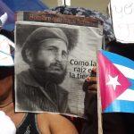 Manzanilleros cierran el duelo oficial con acto de reafirmación Yo soy Fidel // Foto Eliexer Peláez