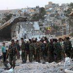 Soldados del Ejército sirio en Alepo. Foto: EFE.