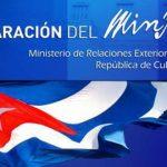 Declaración del MINREX: Fracasa provocación anticubana