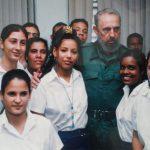 Encuentro de Fidel con el primer grupo de Profesores Generales Integrales (PGI) // Foto Cortesía de la entrevistada