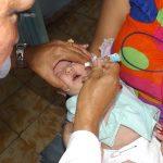 Comienza campaña de vacunación nacional  contra la poliomielitis