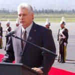 A su llegada a Ecuador, Miguel Díaz-Canel Bermúdez expresó el apoyo de Cuba al presidente Lenín Moreno y al Movimiento Alianza País. Foto: @AnaTeresitaGF