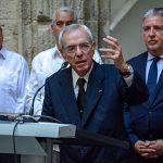Dr. Eusebio Leal Spengler, Historiador de La Habana, durante su intervención en la inauguración de la salas permanentes del centro para la interpretación de las relaciones culturales Cuba-Europa, en el Palacio del Segundo cabo. Foto: ACN/ Abel Padrón.