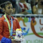La atleta cubana Marcia Videaux