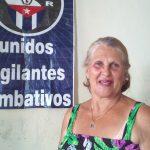 Leonor Rodríguez López, coordinadora de la zona 55 // Foto Eliexer Peláez