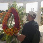 Homenaje a Navarro Luna en le cementerio local // Foto Redacción Digital