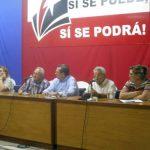 El encuentro en la sede del comité provincial del Partido estuvo presidido por las principales autoridades de Sancti Spíritus. Foto: Lauris M. Henríquez