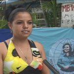 Nayris Pérez Pacheco, ideológica del Comité Municipal de la FMC en Manzanillo // Foto Golfovisión TV