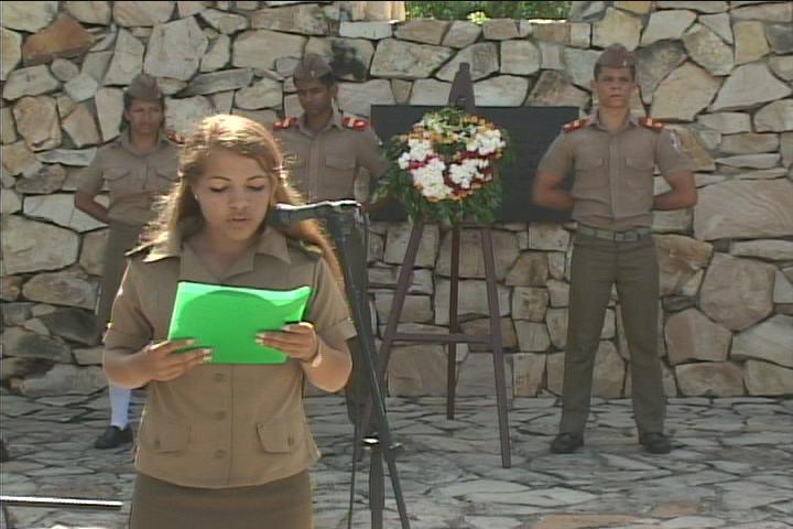 Gretel Pi Guitérez seleccionada como la alumna más integral de esta graduación // Foto Golfovisión TV