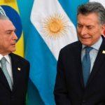 Temer y Macri. Foto: AFP.