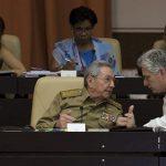 Raúl Castro y Miguel Díaz-Canel en el Palacio de las Convenciones de La Habana. Foto: Irene Pérez/ Cubadebate.