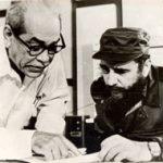 Blas Roca junto a Fidel Castro