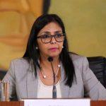 La presidenta de la Asamblea Nacional Constituyente (ANC), Delcy Rodríguez