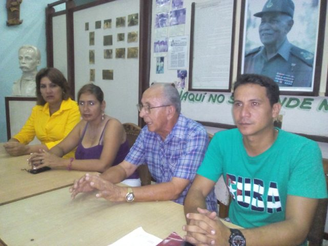 Historiador ciudad junto a la UJC // Foto Eliexer Peláez