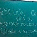 Los docentes instalaron ayer en las escuelas el tema de la desaparición forzada de Maldonado. Foto: Página 12