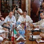 Bruno Rodríguez Parrilla, ministro de Relaciones Exteriores de Cuba, y su homólogo de México, Luis Videgaray, sostuvieron conversaciones oficiales en La Habana. Foto: Abel Padrón Padilla/ ACN.