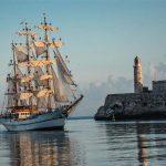 Arribo del Buque Escuela Guayas de la armada de la República del Ecuador, al Puerto de La Habana, en visita oficial, el 12 de agosto de 2017. Foto: Marcelino Vázquez/ ACN.