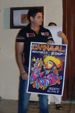 Cartel del Carnaval Manzanillo 2017 // Foto Lilian Salvat