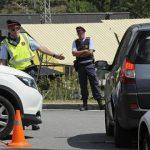 Control policial cerca de Ripoll. Foto: EFE