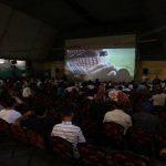 """""""Tenemos que vivir como seres humanos, con cines, espacios públicos, parques"""", dijo un asistente al evento. Foto: Palestinaliberation.com"""