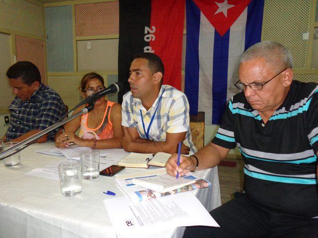 Carlos Manuel Gallardo expuso el Plan de acciones para la nueva etapa de trabajo // Foto Marlene Herrera