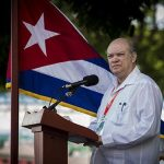 Rodrigo Malmierca durante las plabras inaugurales de Fihav-2017. Foto: Irene Pérez/ Cubadebate.