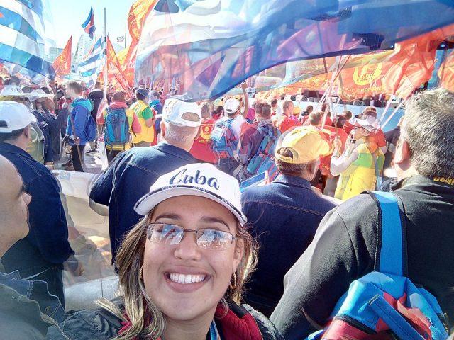La manzanillera Suzanne Santiesteban Puerta, participa como invitada en el XIX Festival Mundial de la Juventud y los Estudiantes // Fotos cortesía de la entrevistada