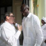El canciller cubano, Bruno Rodríguez, recibe a su homólogo de Níger, Ibrahim Yacoubou. Foto: @CubaMINREX.