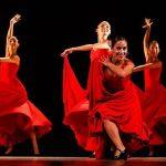 El gobierno de los Estados Unidos negó la entrada al país a los bailarines del Ballet de Lizt Alfonso, solamente por ser cubanos. En la imagen, de izq. a der. las bailarinas de Lizt Alfonso Dance Cuba: Lorena Flores, Tamy González, Sandra Reyes (delante) y Yilian Cuesta. Foto: @LiztAlfonsoDanceCuba/ Facebook.