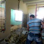 Tareas de reparación // foto Lilian Salvat