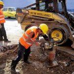 La rehabilitaciones de redes hidraulicas de aguas de la Habana. Foto Roberto Carlos Medina.