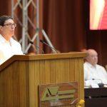 Bruno Rodríguez lee la declaración del XVI Consejo Político del ALBA-TCP en el Palacio de las Convenciones de La Habana. Foto: CubaMinrex/ Twitter