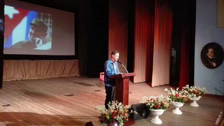 Reynier Beltrán Sánchez, primer secretario de la Unión de Jóvenes Comunistas (UJC) en Manzanillo // Foto Marlene Herrera