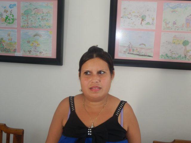 Aliuska Cuñado, madre de Ailín // Foto Lilian Salvat