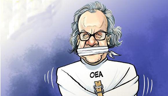 Caricatura de Almagro. Foto: Granma.