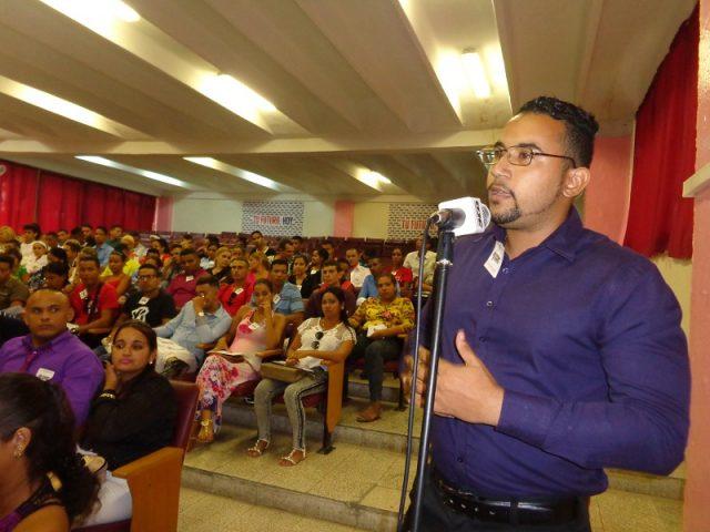 El funcionamiento orgánico de la UJC estuvo dentro del debate del congreso municipal // Foto Eliexer Pelaez Pacheco