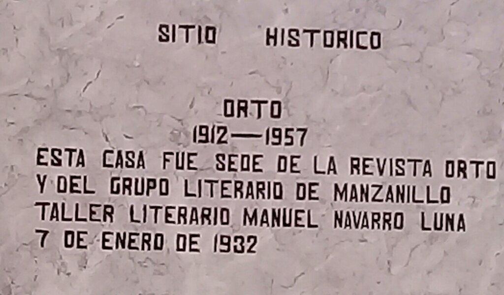 Tarja en la fachada de la otrora imprenta El Arte //Foto Eliexer Pelaez Pacheco